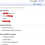 iPhone and iPod sync multiple calendars – google apps