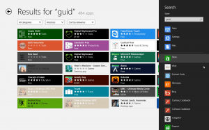 Windows App Store in charm